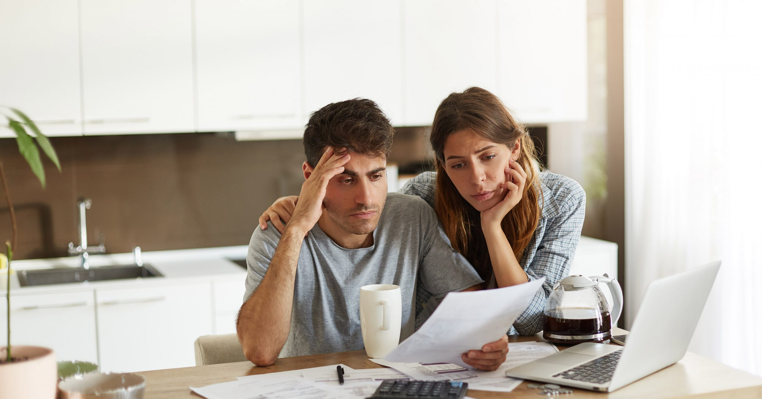 Couple Struggling with Taxes